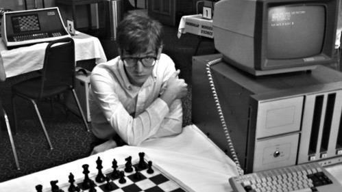 Film still from COMPUTER CHESS. 2013, 91 minutes, color & b/w, U.S.A., NEXT Category.