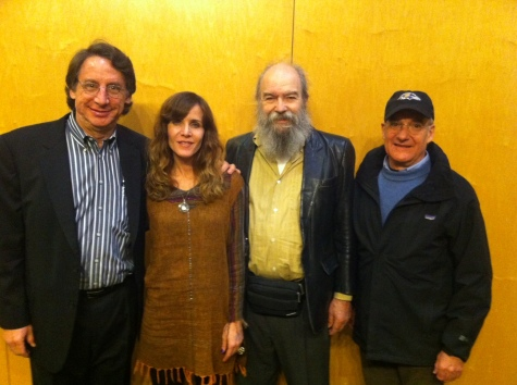 L to R: WYPR's Tom Hall, Jodi Wille, Explosion the Aquarian, and MFF Director Jed Dietz.
