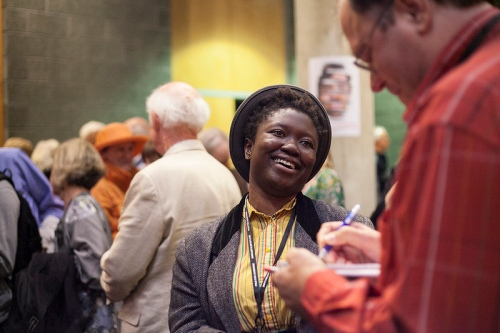 Frances Bodomo (BONESHAKER) at MFF 2013 Opening Night Party.