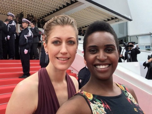 Director Annie Silverstein, left, and producer Monique Walton, right, at the 2014 Cannes Film Festival. Photo courtesy of Skunk/Facebook